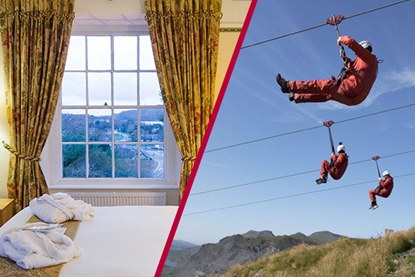Zip World Titan Experience with Overnight Stay at The Royal Victoria Snowdonia