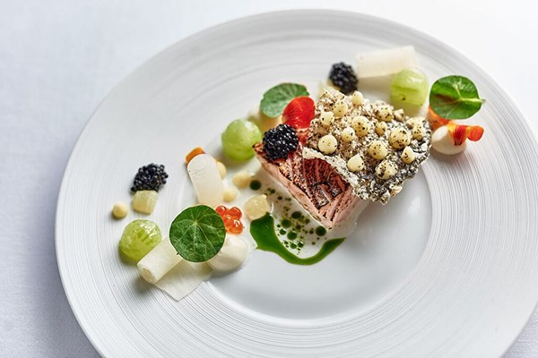 Three Course Meal with Wine for Two at L'Ortolan