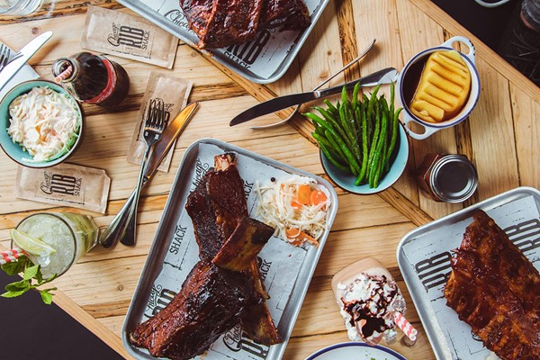 Two Course Meal with Fries and a Drink for Two at Chicago Rib Shack