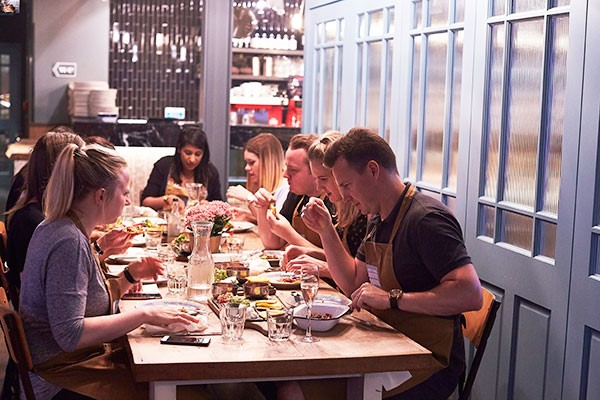 Quick and Easy Dinnertime Class at Jamie Oliver Cookery School for One