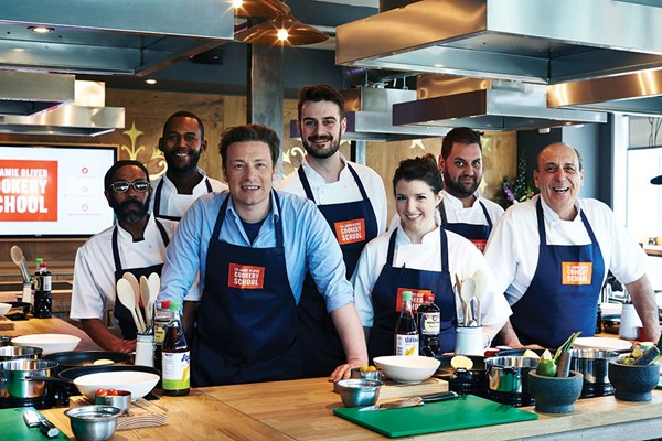 Jamie Cooks Italy Class with Free Book at Jamie Oliver Cookery School for One