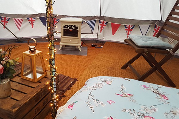Two Night Escape in a Bell Tent for Two at Yapham Holds