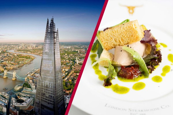 The View from The Shard with Three Courses and Cocktails at London Steakhouse Co.