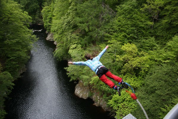 Bungee Jump for One in Scotland