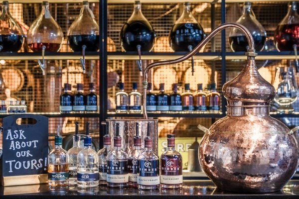 image of Bimber Distillery Gin and Vodka Tour and Tasting for Two