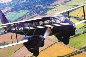 Dragon Rapide Flight over Cambridge Ely & Newmarket.