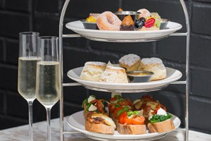 Peruvian Afternoon Tea with Bubbles for Two at Monmouth Kitchen, Covent Garden.