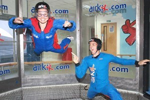 Experience the thrill of indoor skydiving at Airkixs skyventure wind tunnel