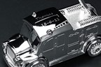 Personalised Money Box - Silver Plated Fire Engine