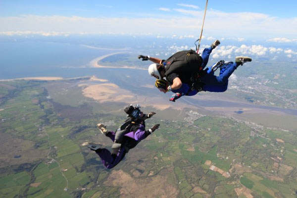 Tandem Skydive at Swansea Airport