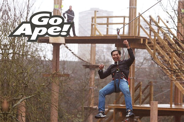 Tree Top Adventure in London for Two Adults at Go Ape
