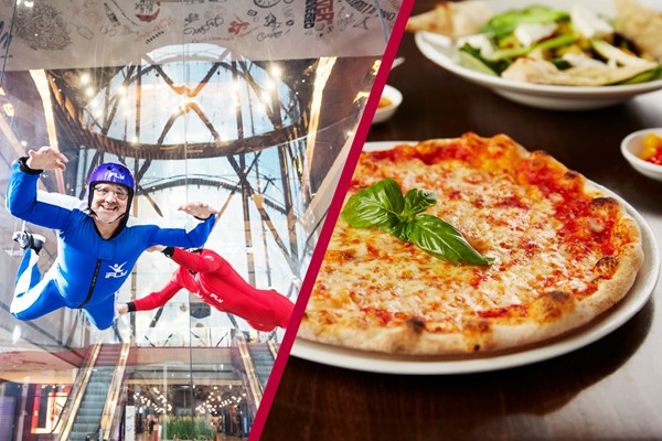iFly Indoor Skydiving and Three Course Meal for Two at Prezzo