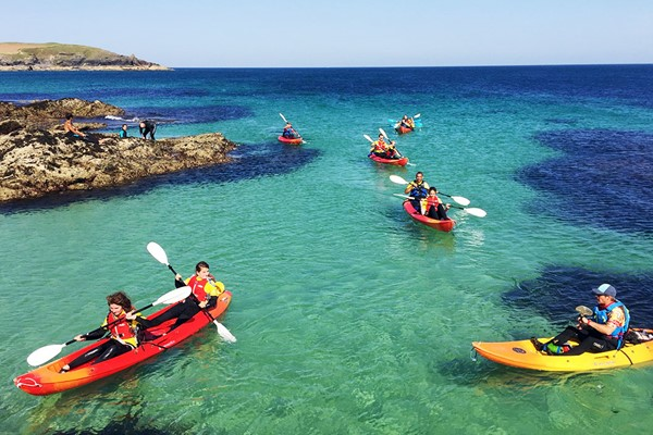 Sea Kayaking for Two at Harlyn Surf School