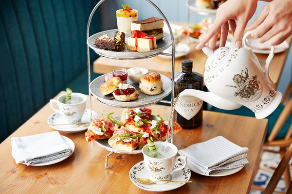 Hendrick's Gin Afternoon Tea for Two at Bella Italia