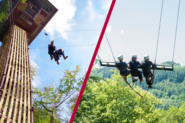 Zip World Plummet and Skyride for Two