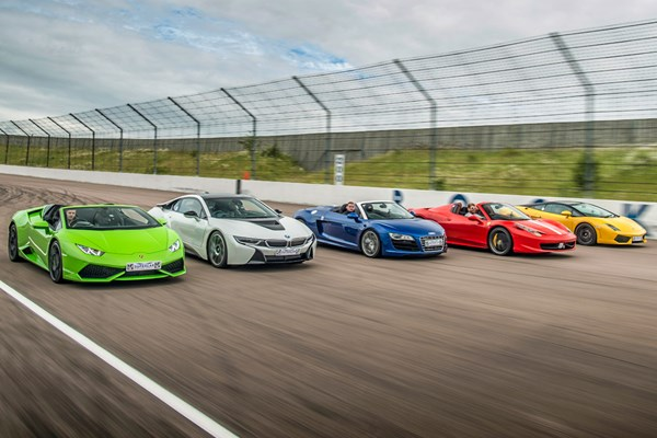 Five Supercar Driving Blast with High Speed Passenger Ride