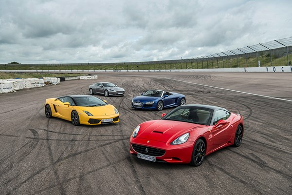 Four Supercar Blast with High Speed Passenger Ride and Photo