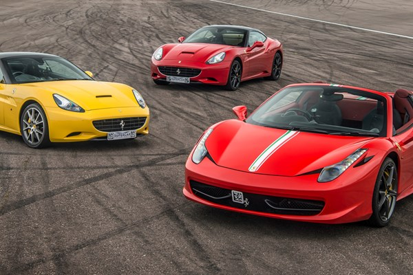 Triple Supercar Thrill with High Speed Passenger Ride