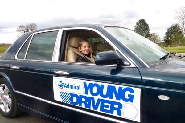 Young Driver Driving Lesson in a Bentley Arnage