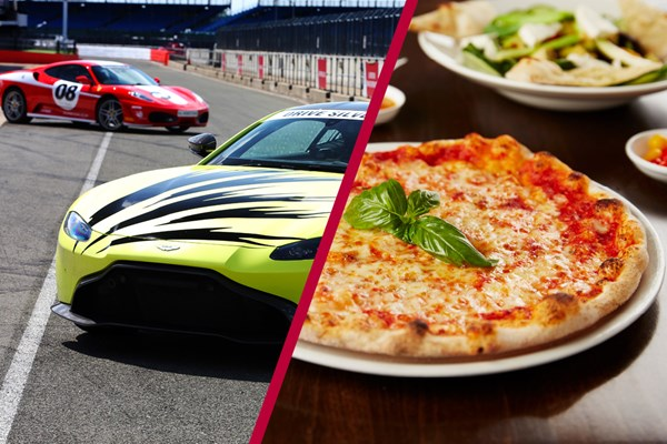 Silverstone Driving Thrill with Three Course Meal at Prezzo