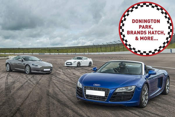 Four Supercar Driving Blast at a Top UK Race Track