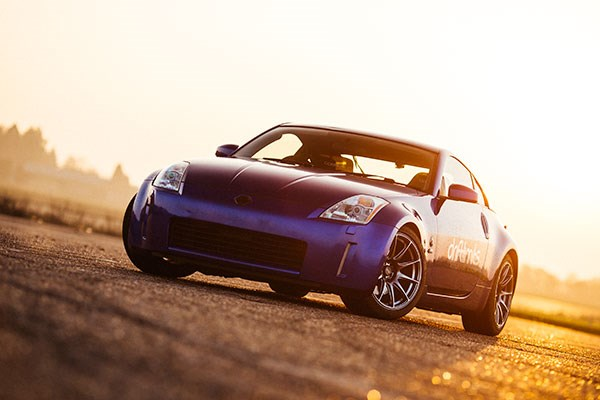 Nissan 350z Gold Drift At Drift Limits