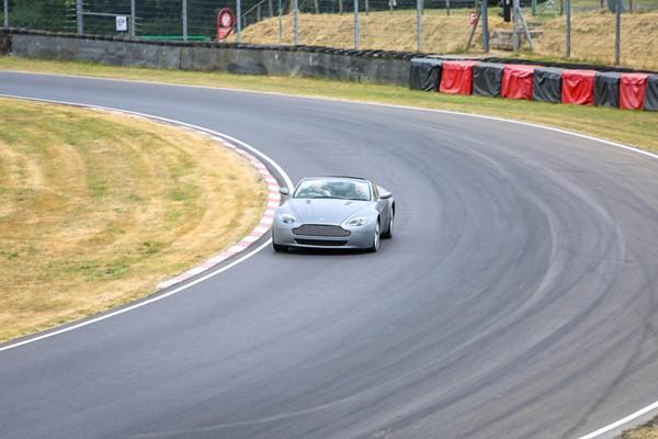 007 Modern Aston Martin Vantage And 70's Vantage Driving Blast