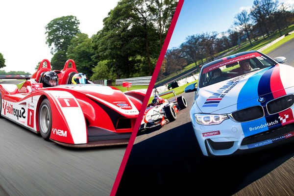 F4 Single Seater Driving Experience and SuperRide in Le Mans Sports Car at Brands Hatch for One