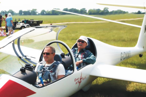 Gliding Flight with an Instructor for Two at Essex and Suffolk Gliding Club