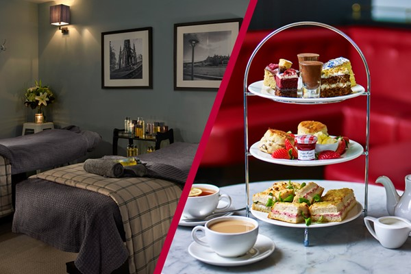 Blissful Spa Day with Treatments and Afternoon Tea for Two at Cafe Rouge