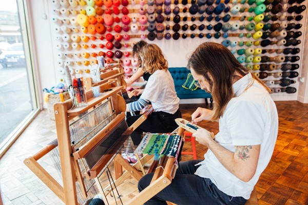 Two Hour Freestyle Weaving Workshop for Two at Make Town