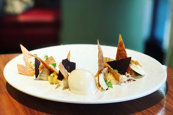 5 Course Tasting Lunch and Champagne for Two at Pied a Terre