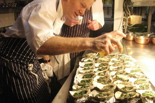 Bentley's Oyster Class with a Three Course Lunch and a Glass of Champagne