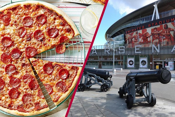Emirates Stadium Tour and Three Course Meal with Wine for Two
