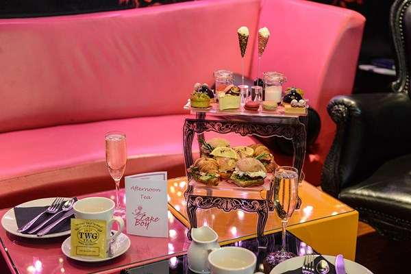 French Style Champagne Afternoon Tea for One at the Cake Boy Emporium