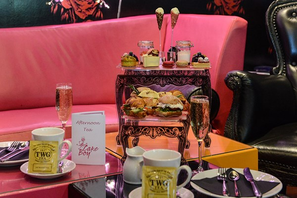 French Style Champagne Afternoon Tea for Two at the Cake Boy Emporium
