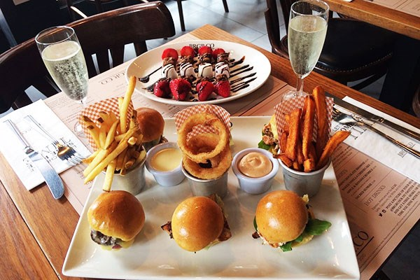 Burger Afternoon Tea for Two at BRGR.CO in Soho London