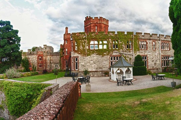 Three Course Meal with Wine for Two at the Ruthin Castle Hotel