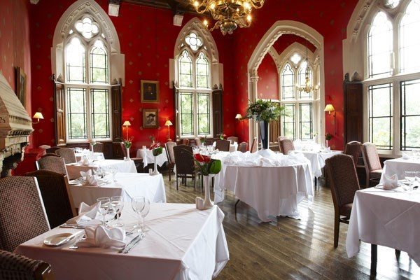 Three Course Meal with Glass of Wine for Two at Brownsover Hall Hotel