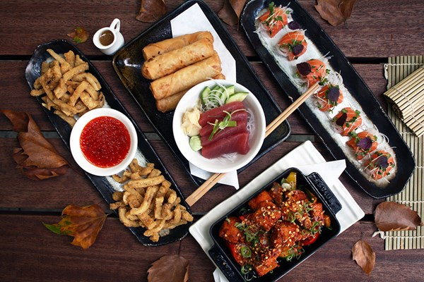 Pan-Asian Eight Dish Sharing Menu with Fizz for Two at interactive Inamo