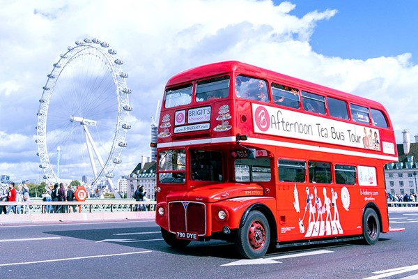 Afternoon Tea London Bus Tour for Two with Brigit's Bakery