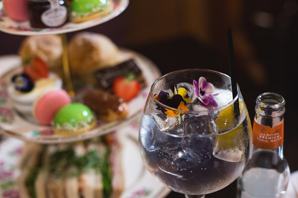 Gin Afternoon Tea for Two at The Vicarage Freehouse and Rooms