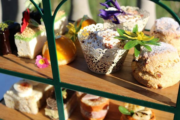 Bottomless Champagne Afternoon Tea with Garden Entry for Two at The Salutation