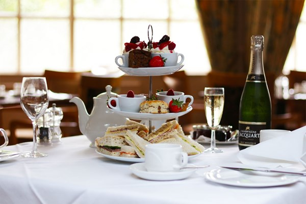 Sparkling Afternoon Tea for Two at Hadlow Manor Hotel