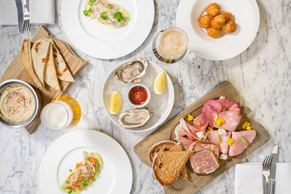 Three Course Dinner with Oysters and Bubbles for Two at London Marriott Park Lane