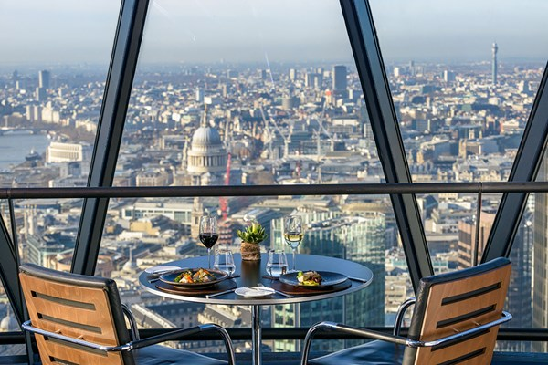 Two Course Dinner for Two at Searcys at The Gherkin