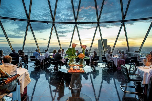 Buy Three Course Meal with Cocktails for Two at Searcys at The Gherkin