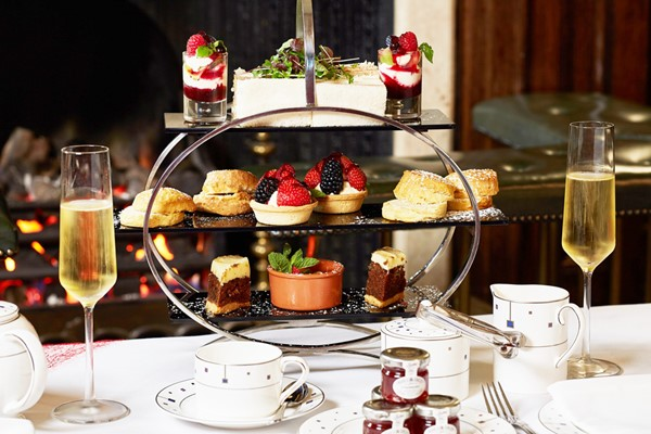 Afternoon Tea with Bottomless Prosecco for Two at The Rembrandt