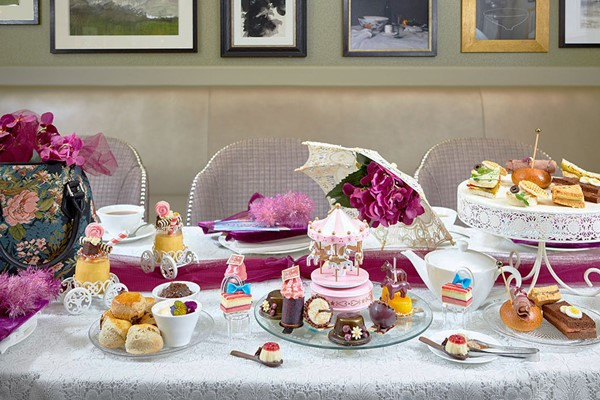 Candy Striped Carousel Afternoon Tea for Two