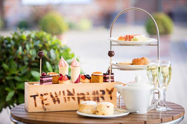 Afternoon Tea with Bubbles for Two at Tewin Bury Farm Hotel